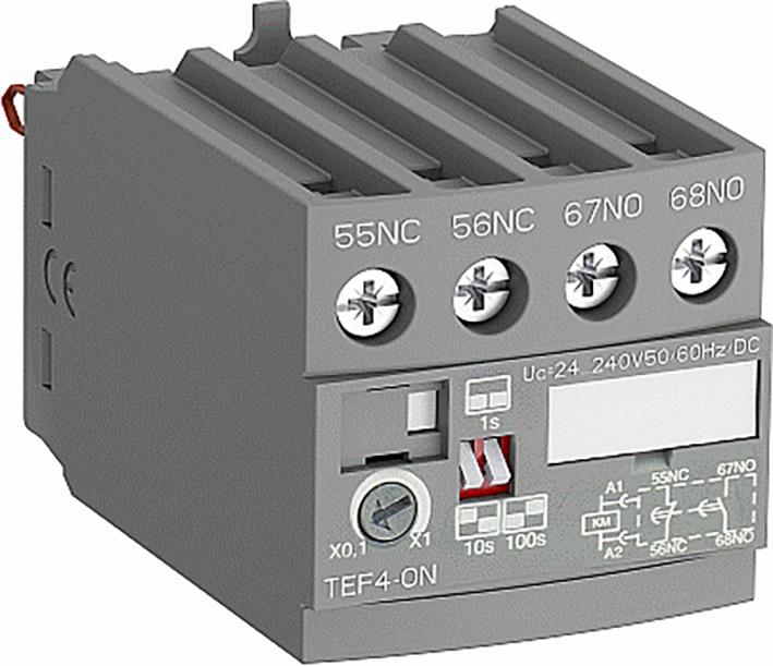 Frontal Electronic Timer For: Af09(Z) ... Af38(Z), Nf(Z) On-Delay, 1No + 1Nc 0,1-1Sec, 1-10Sec, 10-100Sec product photo