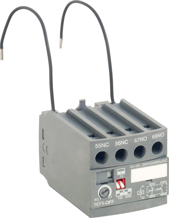 Frontal Electronic Timer For: Af09(Z) ... Af38(Z), Nf(Z) Off-Delay, 1No + 1Nc 0,1-1Sec, 1-10Sec, 10-100Sec product photo