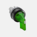 Illiminated Selector Switch, Maintained, Long Handle, 2 Positions, Green product photo