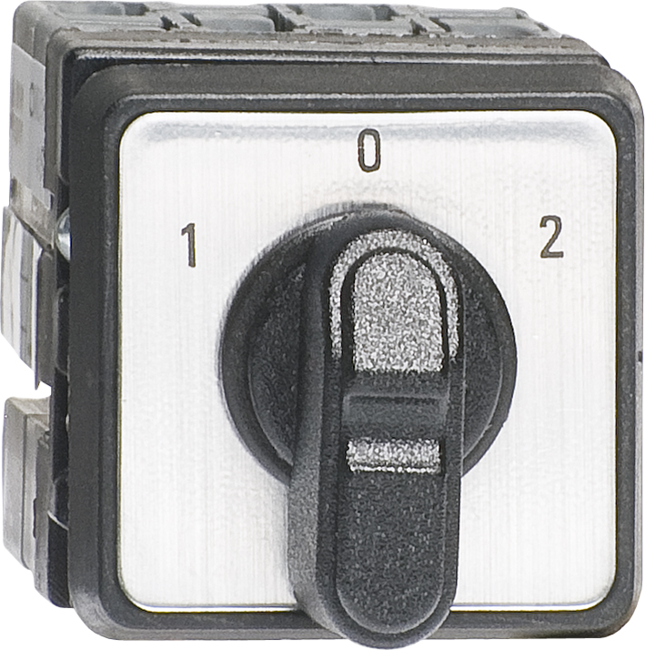Change-Over Swiches 1-0-2 Rotating Angle 60 - 60, 10A, 2P Miniature, Door Mounted product photo